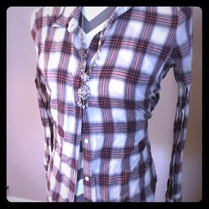 Flannel style button down